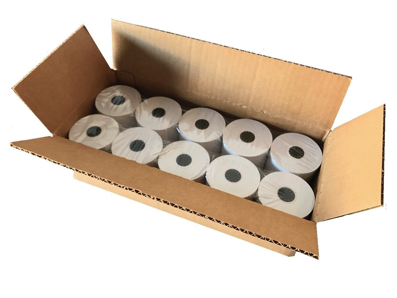 BAM POS, Thermal Paper Rolls, 3-1/8'' x 230 ft, Pack of 10 - Value Pack