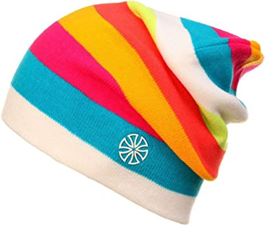Wool Beanie Hat Night Cap Knit Knitted RAINBOW Lined Men Ladies Warm Winter
