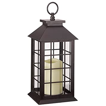crazygadget battery operated window lantern with timer led candle