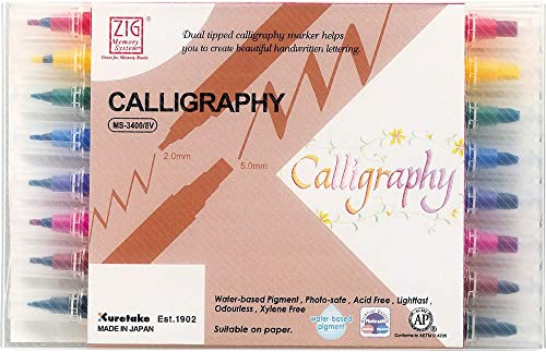 Kuretake Zig MS34008V Memory System Calligraphy Markers