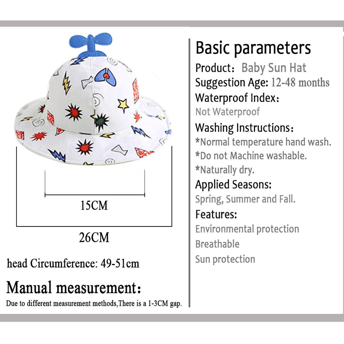 Bebés Niños Niñas Sombrero de Sol Verano Ajustable Sombrero de Sol ...