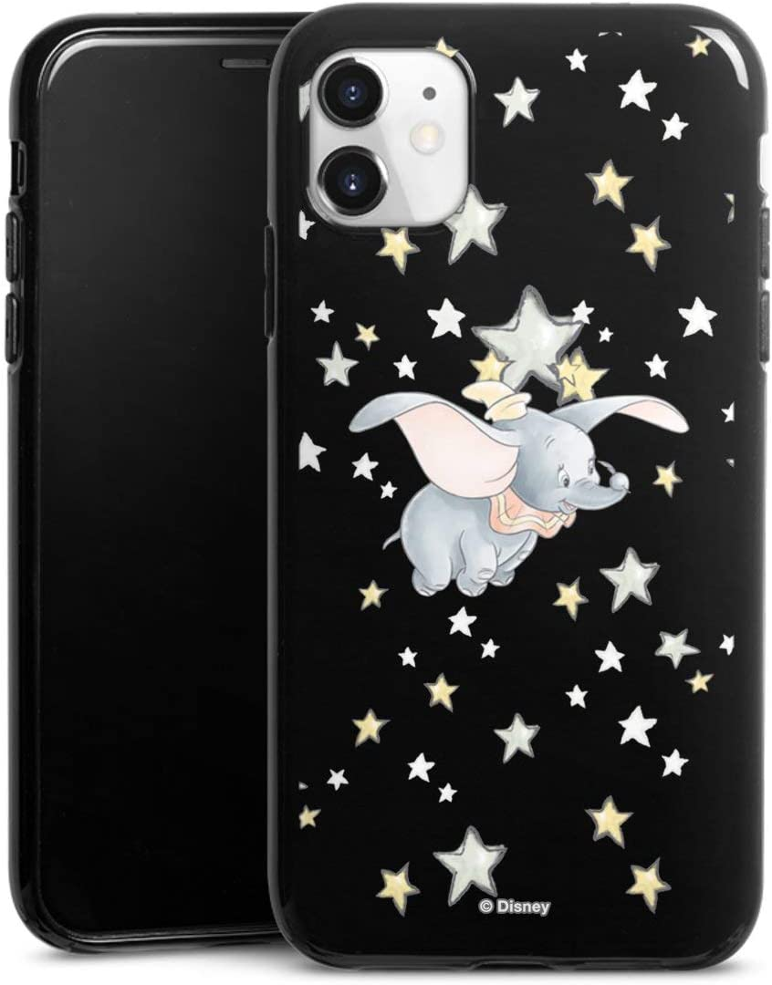 Coque en Silicone Compatible avec Apple iPhone 11 Étui Silicone Coque Souple Étoiles Dumbo Disney