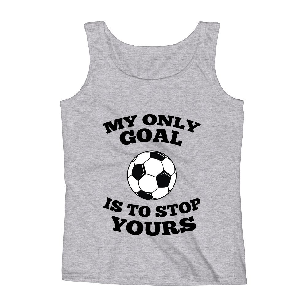 Mad Over Shirts My Only Goal is to Stop Yours Unisex Premium Tank Top