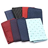 MAISHO 8 Pack Assorted Flash Dots Pocket Square Handkerchief Hanky For Men