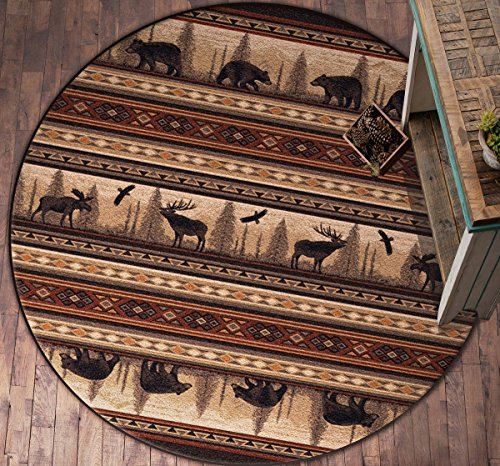Black Forest Decor Wildwood Trails Rug - 8 Ft. Round
