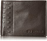 Ben Sherman Men's Holland Park Full Grain Cowhide Leather Passcase Wallet with RFID Blocking Brown, One Size