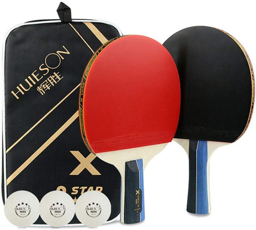 UNIIKE Hit Set Bundle - Ping-Pong - Incluye 2 Premium Pack paletas de Ping-Pong, Bolas 3 Mesa de Ping Pong, 1 Estuche de Transporte
