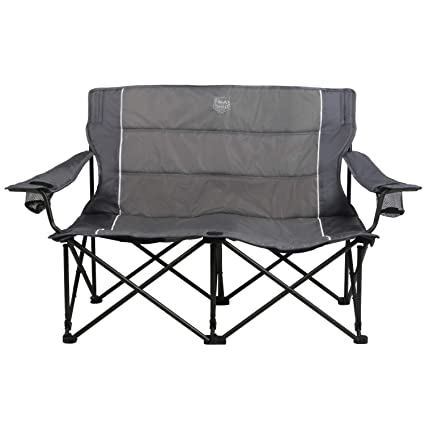 Terrific Heavy Duty Camping Chair Xxl Folding Loveseat Two Person Creativecarmelina Interior Chair Design Creativecarmelinacom