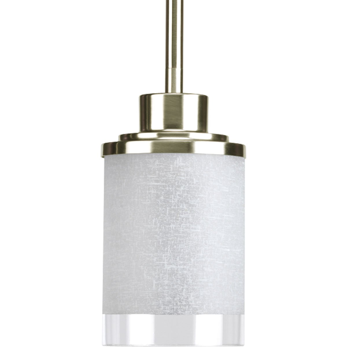 progress lighting p5147 09 1 light mini pendant with white linen