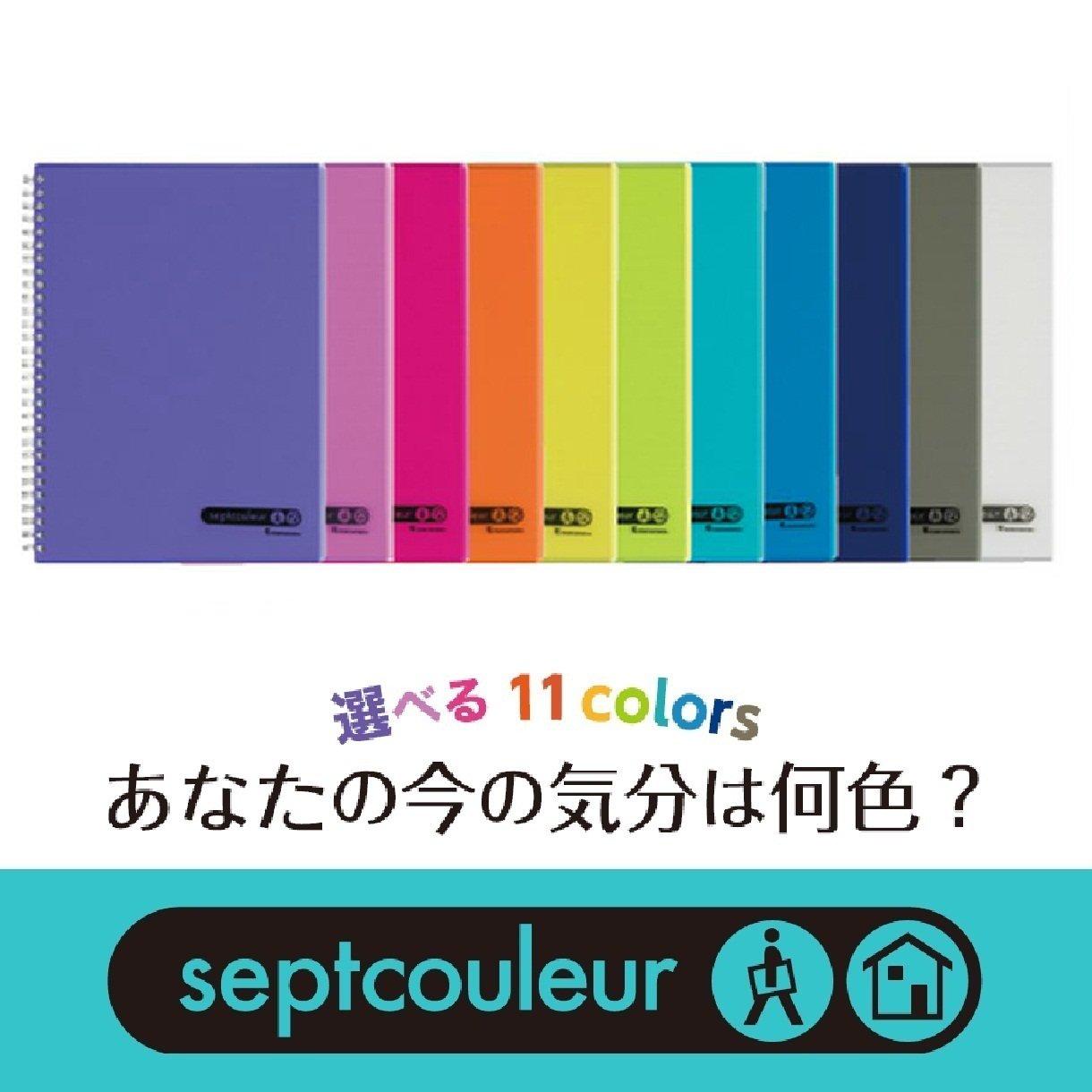 Maruman Lifetime Notebook B5 (6.9x9.8'') - 80 sheets - Light Blue by Maruman (Image #1)
