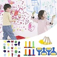Greatideal 39 PCS Kid's Paint Sponges Kits