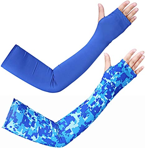 UPF 50+ Sun Protection Cooling Arm Sleeves Sized for Men /&Women Ergodyne Chill Its 6690