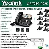 Yealink IP teléfono VoIP sip-t23g (10unidades) Dual-Port Gigabit 3-Line PoE