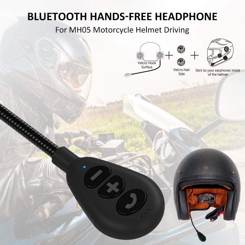 Szseven Intercomunicador para Motocicleta - Auriculares Bluetooth para Moto Sistemas De Comunicación Intercomunicador Auricular Anti-interferencia con Manos Libres para Casco De Motocicleta MH05