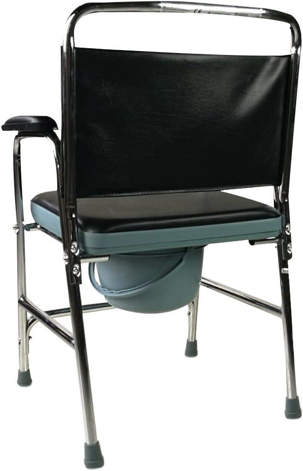 wosumeCommode de Chevet Meubles Mobiles de m/énage de Chaise de Chaise de Toilette Mobile portative de Chaise de Toilette