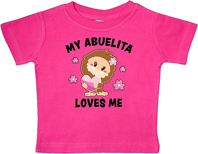 inktastic My Abuelita Loves Me with Bigfoot Baby T-Shirt