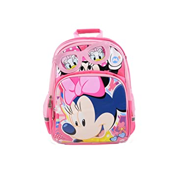 "cfed3b82c69 Disney Kid s Mickey Minnie Mouse Large 14.5"" Noctilucent School Bag Backpack"