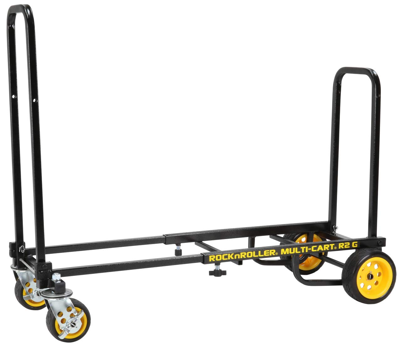 Rock-N-Roller R2G (Micro Ground Glider) 8-in-1 Folding Multi-Cart/Hand Truck/Dolly/Platform Cart/26'' to 39'' Telescoping Frame/350 lbs. Load Capacity, Black