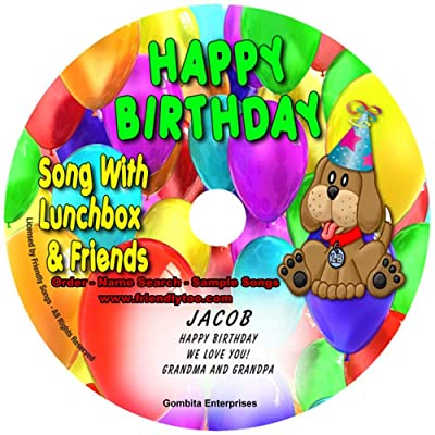 "Gombita Enterprises Name Personalized Music CD - Friendly Songs (1 Happy Birthday Song) - Music CD and ""New"" Digital Content is HERE! - -""Customize When Ordering"" (Standard Name CD): Home & Kitchen"