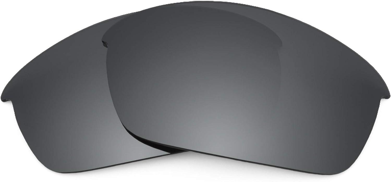 Revant Verres de Rechange pour Oakley Flak Jacket (Coupe Asiatique) Chromé Noir Mirrorshield - Non Polarisés