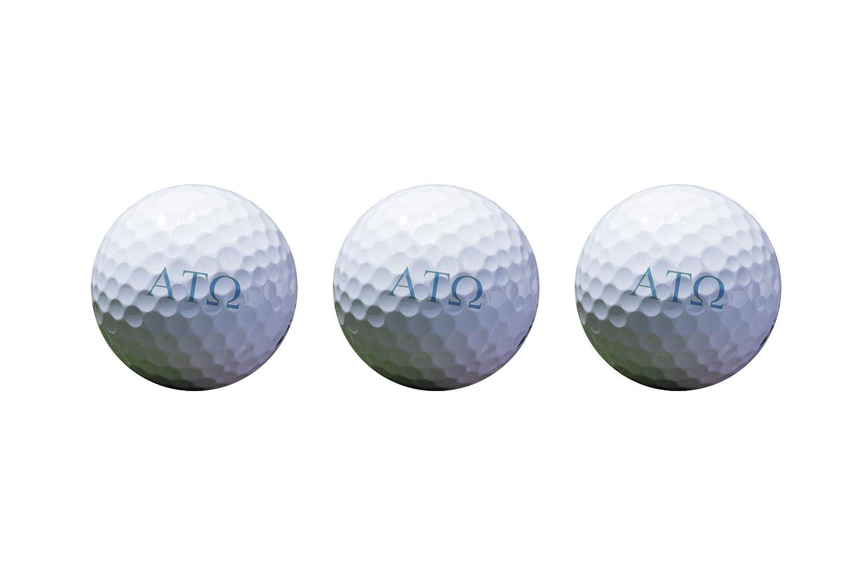 アルファTauオメガカラー印刷Unique Golf Balls ( Set of 3 )ライセンス製品 B079GQW8KY Letter Golf Balls