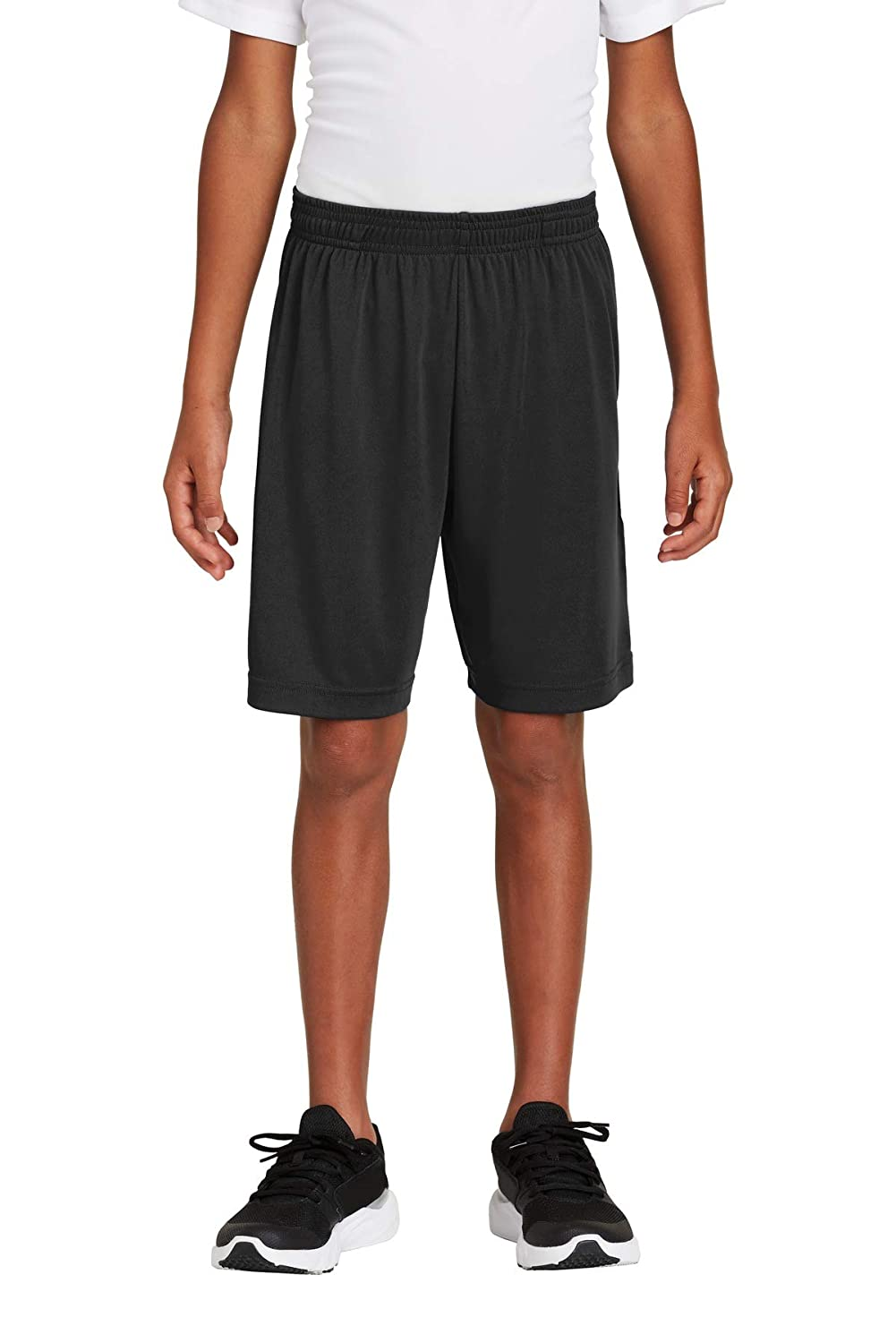 Sport-Tek 174 Youth PosiCharge 174 Competitor 153 Pocketed Short YST355P Large Black