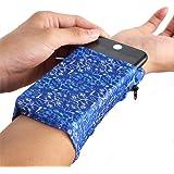Linwnil 2 Pocket Wrist Wallet Wrist Cell Phone Holder, Ankle Wallet, Sweat Bands, Armband, Hidden Pouch, Wristlet Wallet…