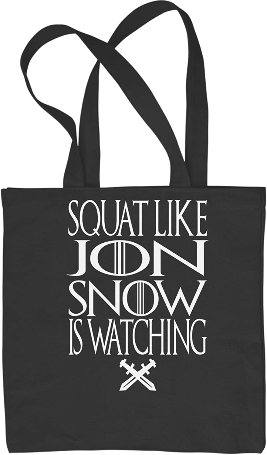 Expression Tees Squat Like Jon Snow Is Watching GoT Shopping Tote Bag