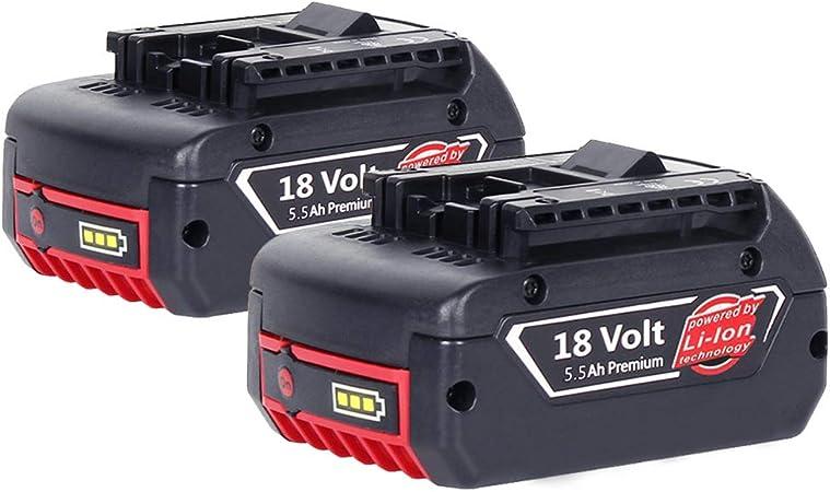 2X reoben Pour Bosch Pack Batterie 18 V 5.0Ah Lithium-ion COOLPACK professionnel...