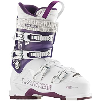 Lange Chaussure De Ski Femme  Xt 80 White / Purple Blanc - Livraison Gratuite avec  - Chaussures Ski Femme