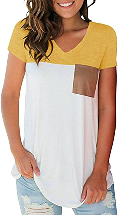 FAMILIZO Camisetas Mujer Manga Corta Camisetas Casual Mujer Verano ...