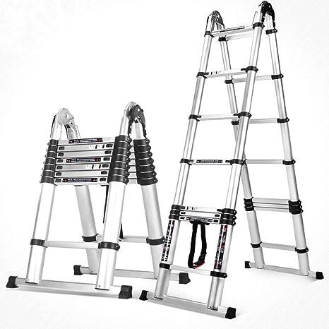 Xiao Jian- Escalera elevadora multifuncional, escalera telescópica de engrosamiento, escalera plegable de todos los hogares de aleación de aluminio, tubo redondo sin soldadura de refuerzo de ingenierí: Amazon.es: Hogar