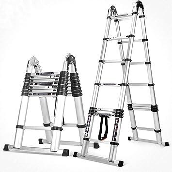 Jian E-// Escalera de mano Escalera de mano plegable Escalera de mano Escalera plegable Escalera de escaleras multifuncional - Capacidad de carga 150 kg //- (Talla : Enhanced Edition 2.8+2.8m): Amazon.es: Bricolaje y herramientas