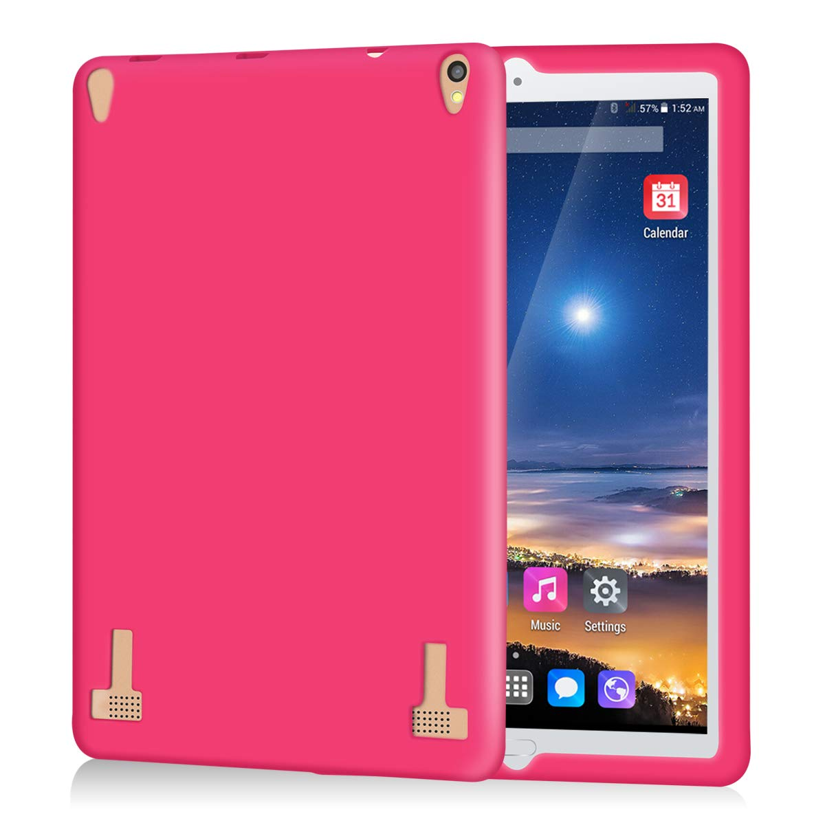 Kivors 10.1 inch Tablet Case Cover, Shock Absorbing Lightweight Silicone Case Protective Cover for Model A104//A103 tablet