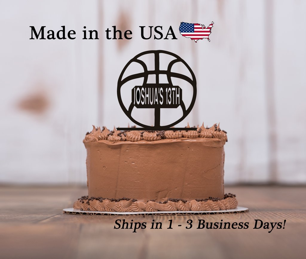 Admirable Basketball Cake Topper With Free Keepsake Base Mens Basketball Funny Birthday Cards Online Unhofree Goldxyz