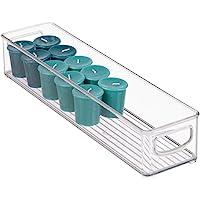 InterDesign Cabinet/Kitchen Binz Kitchen Storage Container, Long Plastic Storage Boxes for The Fridge, Freezer or Pantry, Clear