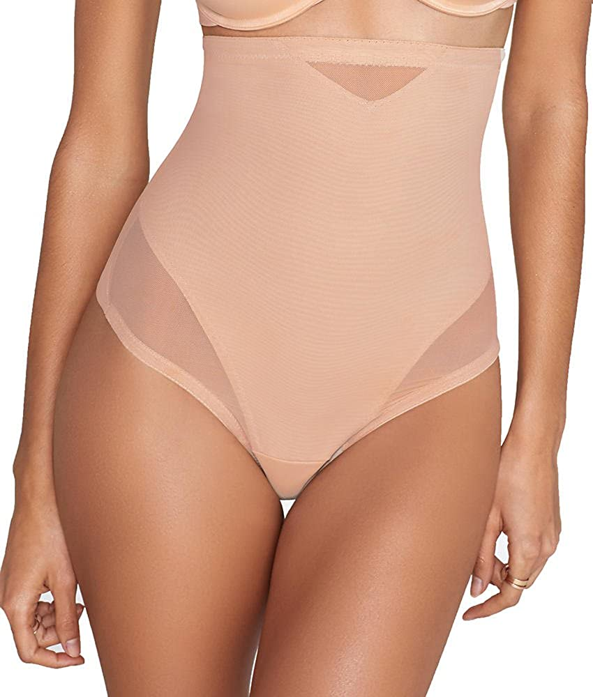 82a2127468e77 Miraclesuit Sexy Sheer Extra Firm Control High-Waist Thong at Amazon  Women's Clothing store: