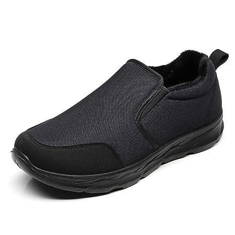 Qiusa Slip para Hombre en Mocasines Antideslizantes Zapatos Deportivos Transpirables Ocasionales de Suela Blanda (Color