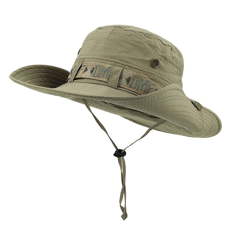 Army Men Sniper Hats Sun Boonie Hat Summer UV ProteSivanetion Sivaneap Mens Military Fish Hunt Hats Light Green