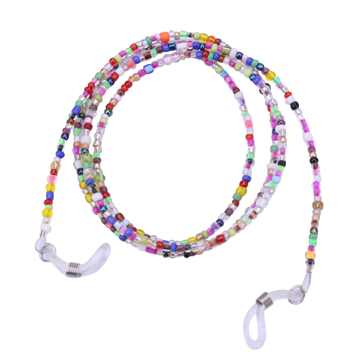 TiaoBug Eyeglass Chain Beaded Glasses Cord Sunglasses Lanyard Retainer Strap Multicolor One Size