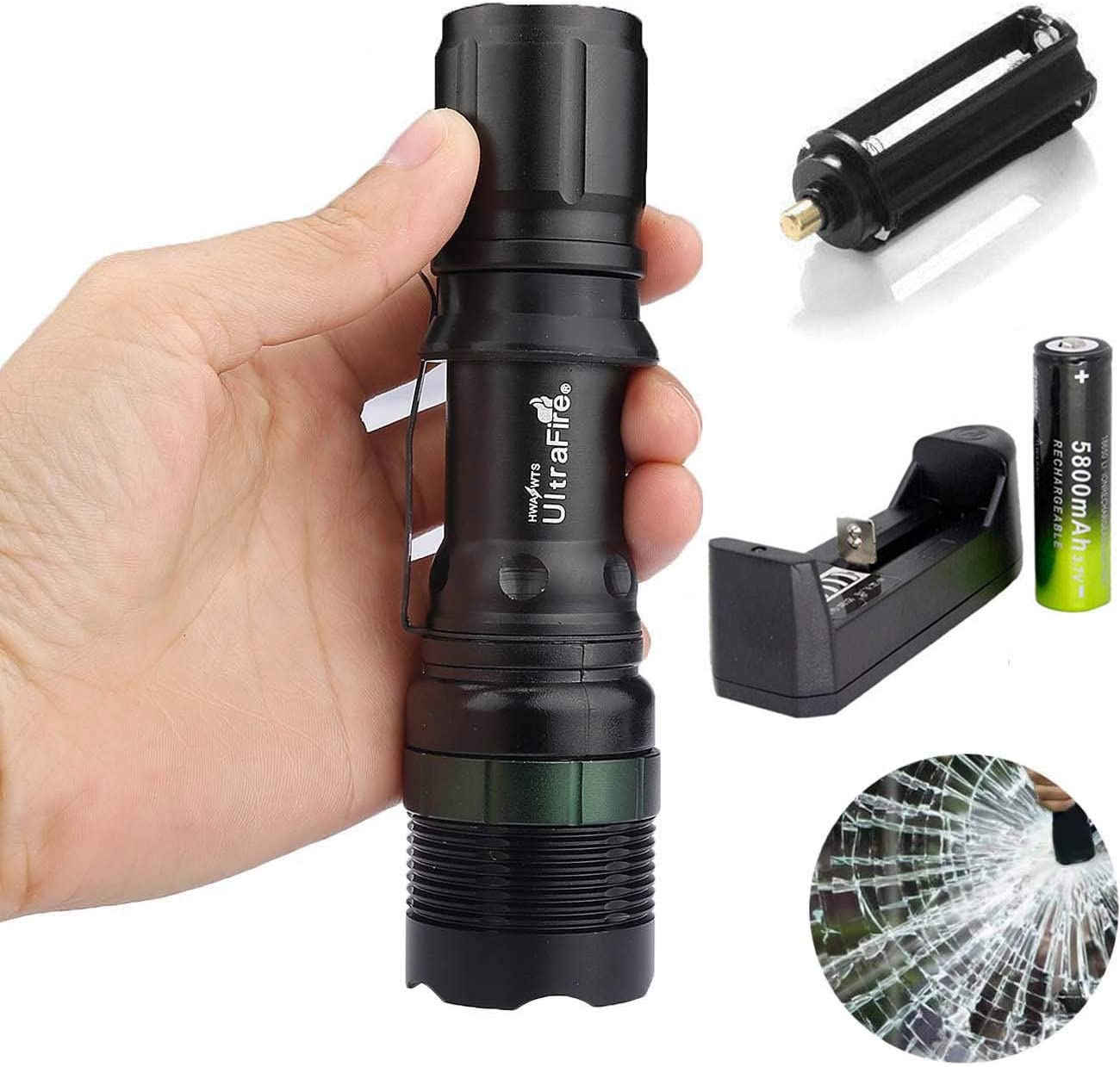 Charger 18650 Battery Ultrafire Focus Tactical Torch T6 LED 50000LM Flashlight
