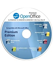 Open Office Word Processor Spreadsheet Excel Database Software Disc CD alternative to MS Office