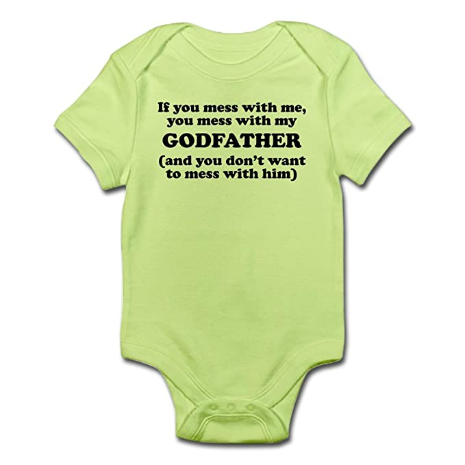 155e170ad Amazon.com: CafePress You Mess with My Godfather Body Suit Baby Bodysuit:  Clothing