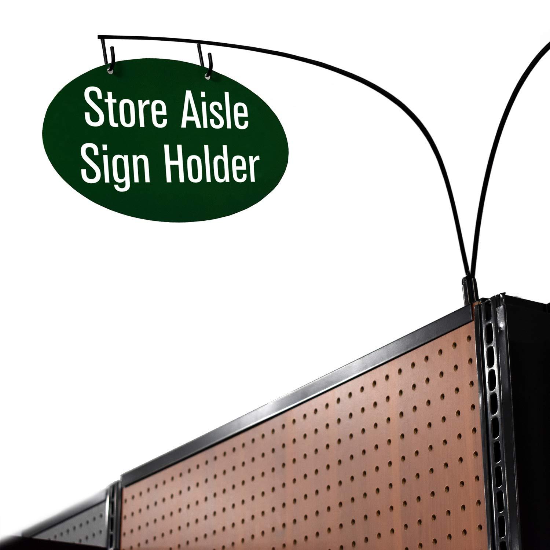 Department Walkway Section Marker /& Labeler for Store Shelving Gondola Shelf Double Side Magnetic Store Aisle Sign Holder 10 Pack