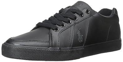 Polo Ralph Lauren Men's Hugh-SK-VLC Fashion Sneaker, Black, ...