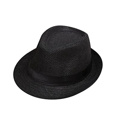 320574795f5 Felicy Toddler Summer Baby Beach Straw Hat Jazz Panama Trilby Fedora Hat  Gangster Cap Hats Caps Sun Protection Hat (A)  Amazon.co.uk  Clothing
