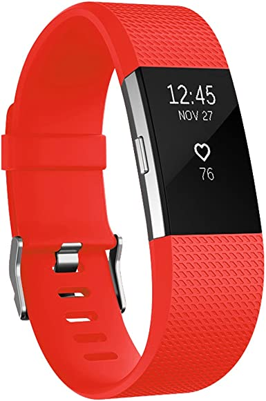 AK Fitbit Charge 2 Bands Classic Edition Adjustable Comfortable Replacement Wristbands for Fitbit Charge 2 Heart Rate No Tracker
