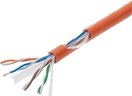300Ft Cat6 Ethernet Cable Orange 550MHz