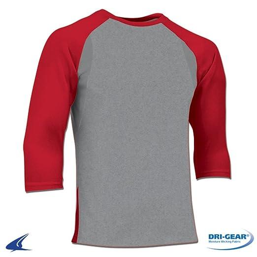 11ae9565e35 Amazon.com  Adult Mens DRI-FIT 3 4 Sleeve Baseball 100 Percent Polyester T- Shirt bs25 Adult  Clothing