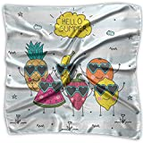 Lovely Fruit And Glasses Women's Square Scarf Headdress Fashion Neckerchief